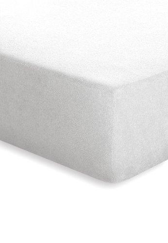 Schlafgut 004–301–Lenzuolo con angoli elasticizzati, in spugna, 150x 200cm, colore: arancione 50421-00001000-004-301