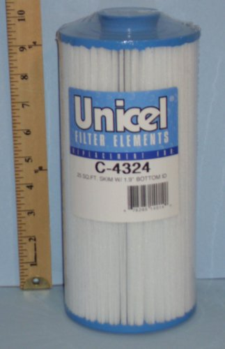 Unicel C-4324 Replacement Filter Cartridge for 25 Square Foot Pleatco Skim Filter, Spa Manufacturers, Gatsby Spas, Appliances for Home