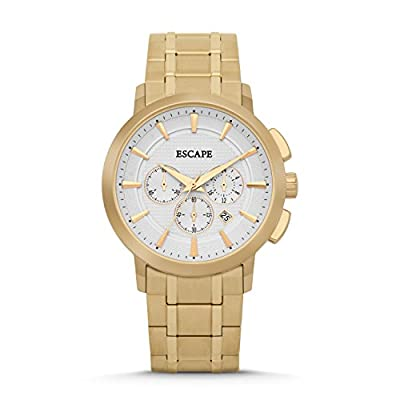 Mens Executive Gold-Gold Bclt Chrono Escape Watches