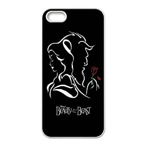 [H-DIY CASE] For Apple Iphone 5 5S -Beauty And The Beast-CASE-2
