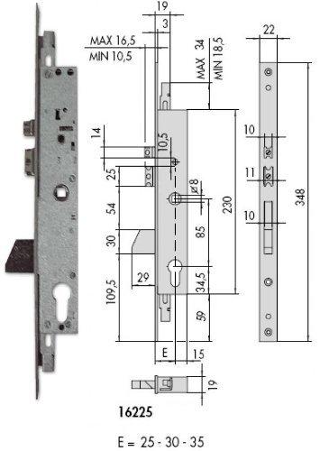 Cisa 16225 – 35 Cerradura S/C. eléctrica