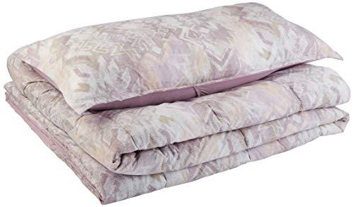 AmazonBasics Comforter Set, Twin / Twin XL, Lilac Aztec, Microfiber, Ultra-Soft (Comforters Lilac)