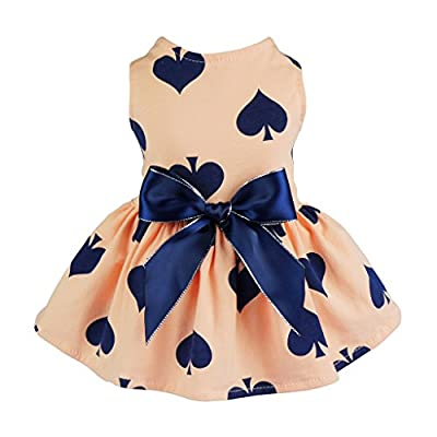 Fitwarm Sweetie Ribbon Pet Clothes Dog Dress Vest Shirts Sundress by Fitwarm