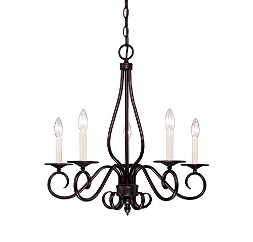 Savoy House KP-95-5-13 Chandelier with No Shades, English Bronze Finish