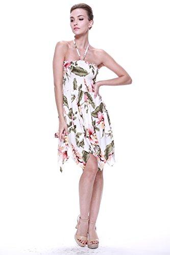 Vestido gitano Vestido hawaiano Vestido Luau Vestido de hada en Crema Rafelssia