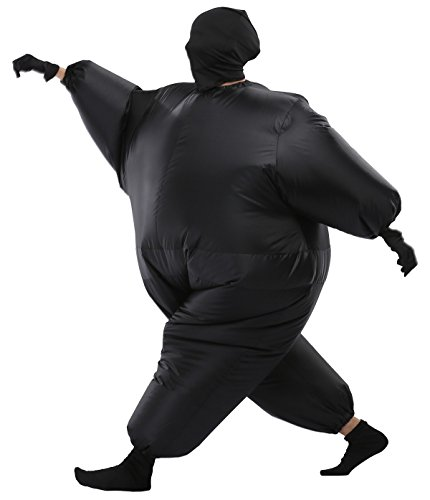 Quick Delivery Costumes (Adult Inflatable Sumo Wrestler Costume Blow Up Fat Suit with Operated Fan (13 Other Roles))