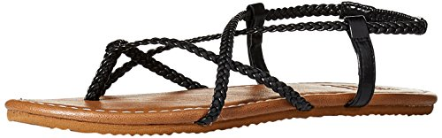 Billabong Women's Crossing Over 2 Flat Sandal, Off Off Black, 10 M US ()