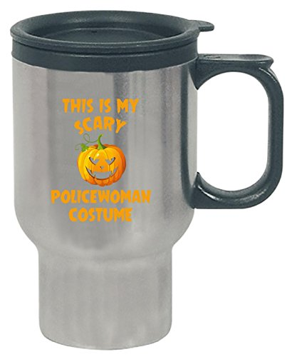 This Is My Scary Policewoman Costume Halloween Gift - Travel Mug -