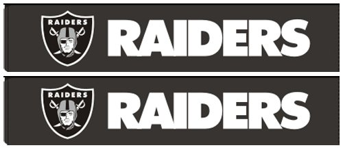 FMD96704-NFL Oakland Raiders Car Shoulder Belt Seat Pad - Pair (Oakland Raiders Nfl Eye)