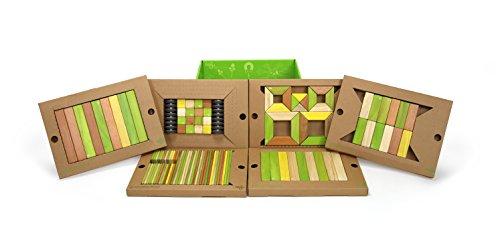 Magnets Jungle - 130 Piece Tegu Classroom Magnetic Wooden Block Set, Jungle