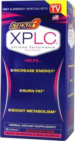 Stacker 3 XPLC Supplément de fines herbes alimentaires, Formula Extreme Performance, Capsules, 60-Count Bottle