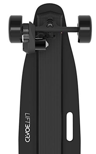 LiftBoard Single Motor Belt Driven Electric Skateboard, Black, 39