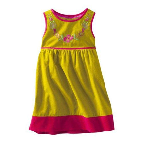 Genuine Kids Made By Oshkosh Toddler Girls Sleevless Green Endive Dress (3T)