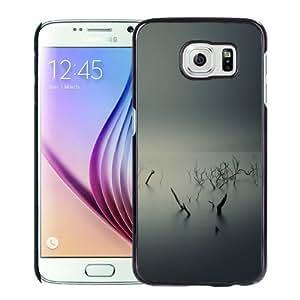 NEW Unique Custom Designed Samsung Galaxy S6 Phone Case With Ubuntu Gnome Mist Fog Underwater Trees_Black Phone Case