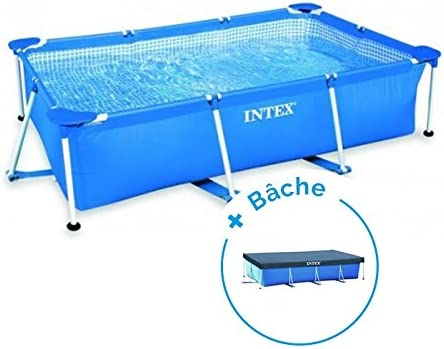 Pack piscina tubular Intex Metalframe Junior 3 x 2 x 0.75 M + lona: Amazon.es: Deportes y aire libre