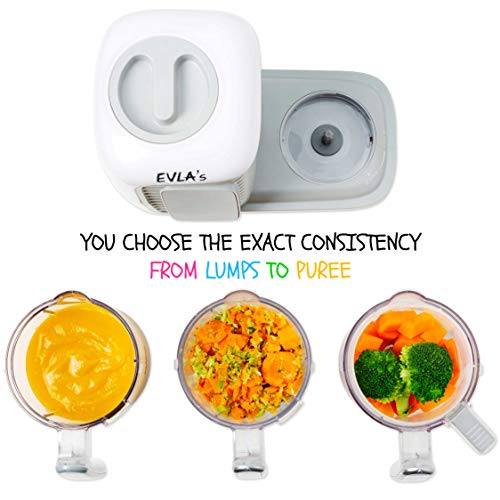 41 jDwn35ZL - Baby Food Maker | Baby Food Processor Blender Grinder Steamer | Cooks & Blends Healthy Homemade Baby Food In Minutes | Self Cleans | Touch Screen Control | 6 Reusable Food Pouches (White Double)