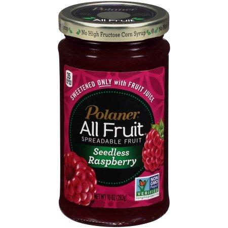 Polaner All Fruit with Fiber Raspberry Seedless Spreadable Fruit 10 oz (6 ()