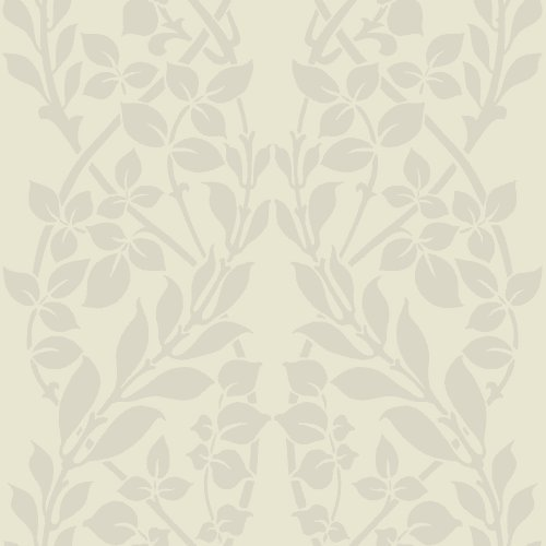 York Wallcoverings CD4026 56 Square Foot - Botanica by Candice Olson - Unpasted, N/A (Leaf Vine Stripe Wallpaper)