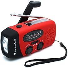 [Upgraded Version]RunningSnail Emergency Hand Crank Self Powered AM/FM NOAA Solar Weather Radio with LED Flashlight, 1000mAh Power Bank for iPhone/Smart Phone