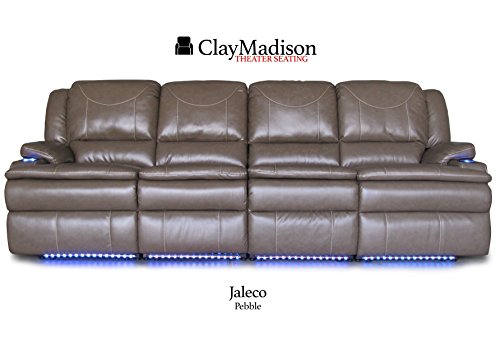 Clay Madison Jaleco Row of 4 Middle Loveseat, Pebble