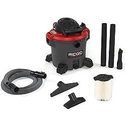 RIDGID 50323 1200RV Wet Dry Vacuum, 12-Gallon Shop Vacuum with 5.0 Peak HP Motor, Casters, Pro Hose, Drain, Blower Port, Accessory Storage