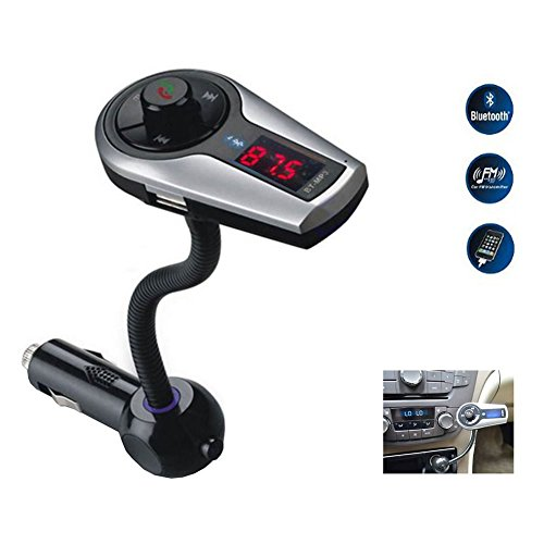 - Bluetooth Handsfree FM Transmitter Car Kit MP3 Music Player Radio Jammer With Remote Control For iPhone Samsung LG Smartphone