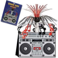 Boom Box Centerpiece Party Accessory (1 count) (Halloween Theme Party Music)