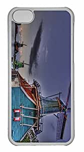 iPhone 5C Case, Personalized Custom Windmills Hdr for iPhone 5C PC Clear Case