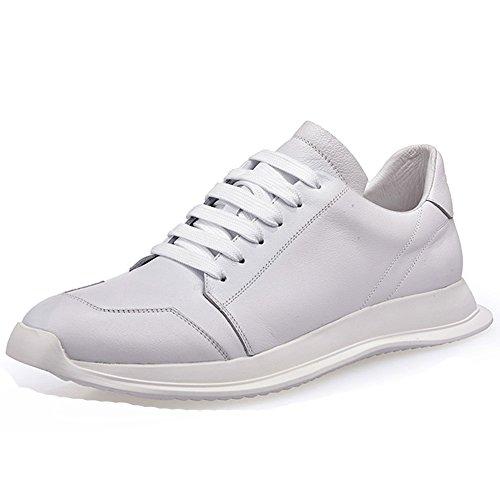 Cuir 42 Souliers De Occasionnels Des Hommes Plate Tendance En Chaussures Personnalité De Chaussures De La Forme Basses White De Des rrwxOpzq