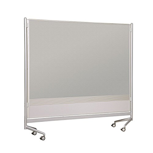 Balt Mobile Double Sided Divider Porcelain Steel Magetic Markerboard Laminate DOC Room Partition 6'H x 6'W electronic consumers