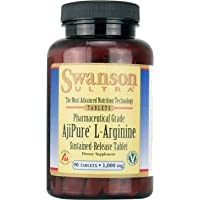 Swanson Ultra AjiPure L-Arginine (1000mg, 90 Sustained-Release Vegetarian Tablets)