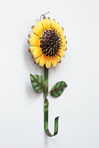 New Metal Sunflower Home Hook Great Home&Kitchen Keys,Coats,Utilities Hook Decor by GRACE HOME by Grace Home