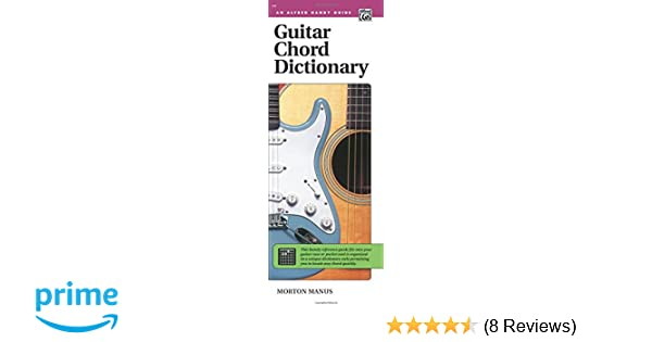 Guitar Chord Dictionary Handy Guide Alfred Handy Guides Morton