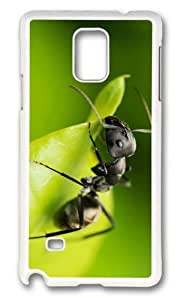 MOKSHOP Adorable Black Ant Hard Case Protective Shell Cell Phone Cover For Samsung Galaxy Note 4 - PC White by lolosakes