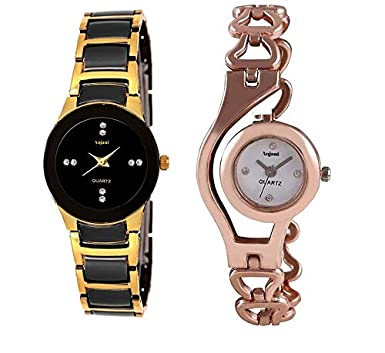 Buy Anjani Rx Collection Analog Black Gold Color Watch with