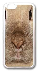 Big Face Bunny Custom iPhone 6 Case Cover TPU Transparent