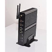 Kingdel® Intel i7-5550U CPU Mini Desktop Computer, Fanless Industrial PC with 16GB RAM, 512GB SSD, 2*HDMI, 2*NIC, 1*SPDIF, 4*USB3.0, Card Reader, Wi-Fi, Windows 10 Pro