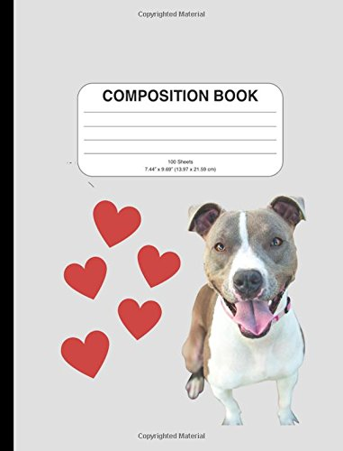 Download Composition Notebook: Adorable Pitbull Dog Design, Wide Ruled, 200 Pages to Use for Writing, School, or as a Journal ebook