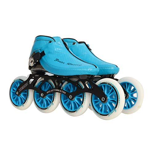行列不均一塩ailj スピードスケートシューズ90MM-110MM調整可能なインラインスケート、ストレートスケートシューズ(3色) (色 : Red, サイズ さいず : EU 44/US 11/UK 10/JP 27cm)