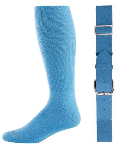 Light Sock Blue - Joe's USA - Baseball Socks & Belt Combo Set Colors Available (Light Blue, Youth (7-9))