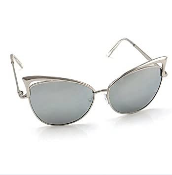 8832cb18b Amazon.com : Women'S Gold Retro Cat Eye Sunglasses Classic Designer Vintage  Fashion Shades : Garden & Outdoor