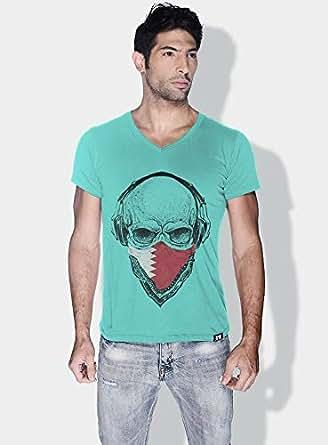 Creo Bahrain Skull T-Shirts For Men - S, Green