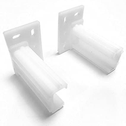 Rear Mounting Bracket Plastic For White Epoxy Drawer Slide L And