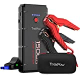 Car Jump Starter, 1500A Peak Trekpow 12V Auto Battery Booster Box(Up to 8.0L Gasoline/6.5L Diesel Engine) with Smart Jumper Cable, Portable Power Pack Quick-Charge, Type-C Port, LED Light