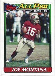 1991 Topps Joe Montana Football Card #73 Joe Montana