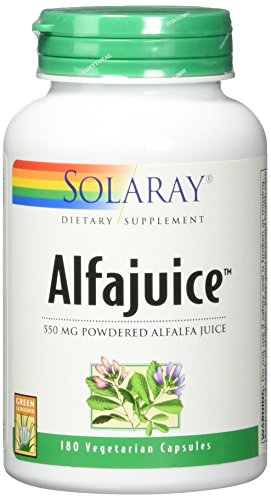 Solaray Alfajuice 550 mg VCapsules, 180 Count