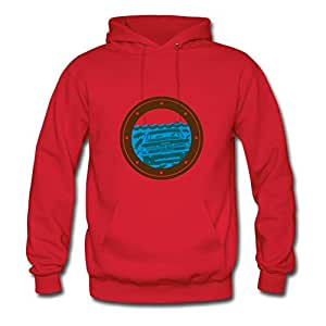 Barracuda Custom X-large Sweatshirts Women Cotton For Red