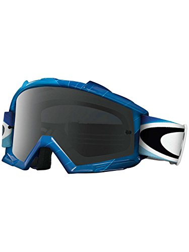 H2o Frame Goggle (Oakley Proven H2O Blue Swell Fade Goggles (White Frame/Dark Grey Lens))