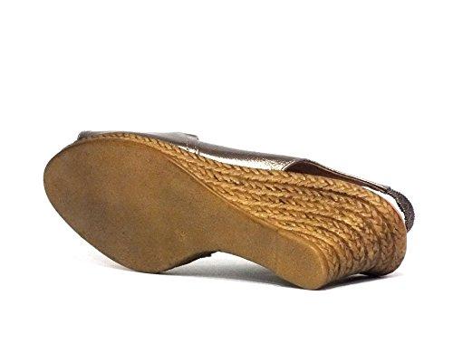 Sandalia piel Oh! my Sandals 3300 Cuña Grafito
