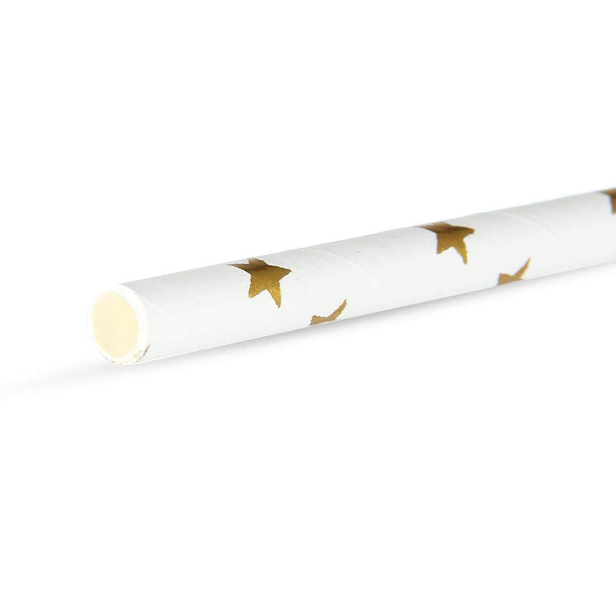 25 PCS Papier D/égradable Respectueux de lenvironnement AOLVO Paille Biodegradable//Paille Papier Or Une Vari/ét/é de Collocation dor /él/égant